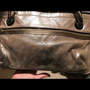 Lanvin tan shimmer bag